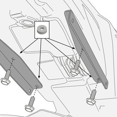 GIVI Комплект для установки крепления кофров TE2115 на Yamaha MT-09