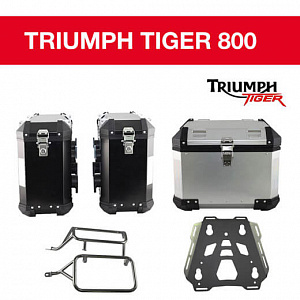 Центральный кофр + боковые кофры + багажник + крепежные рамки для Triumph tiger 800